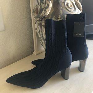 Zara booties.$85.00
